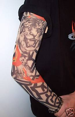 Animal And Tribal Tattoos Sleeve
