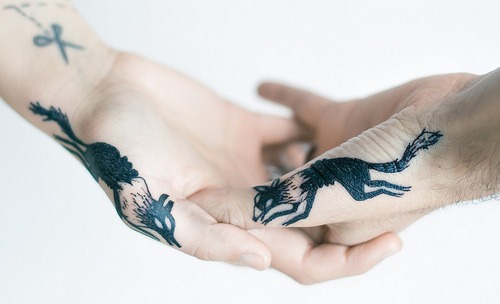 Animal Couple Tattoos