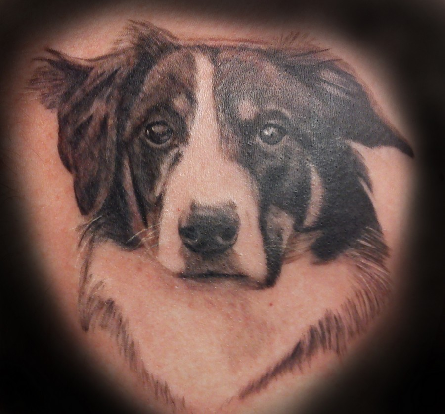 Animal Dog Portrait Tattoo