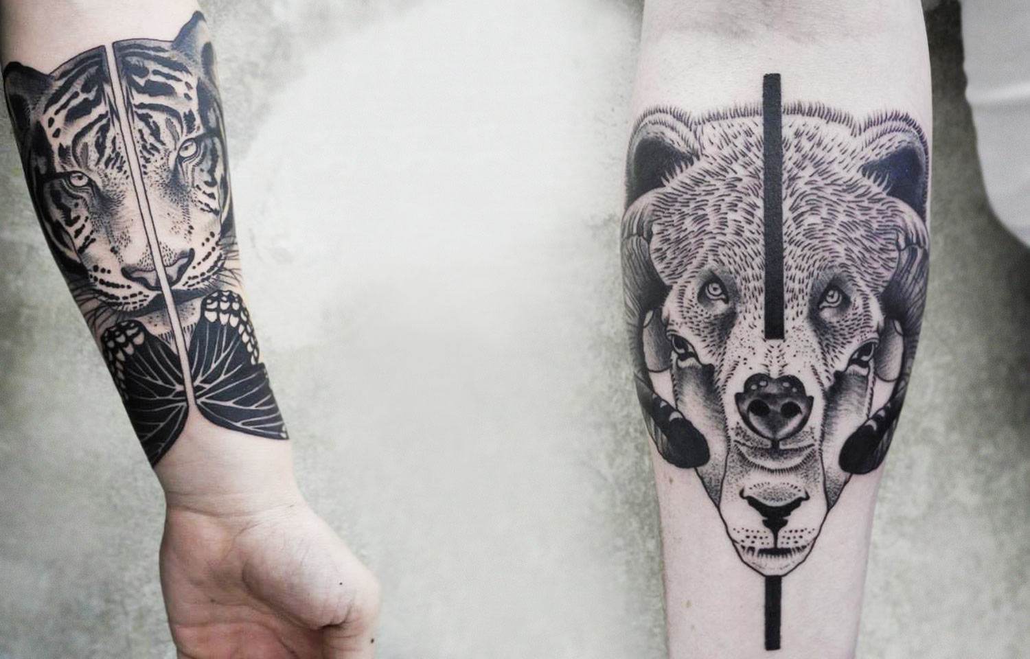 Animal Forearm Tattoos