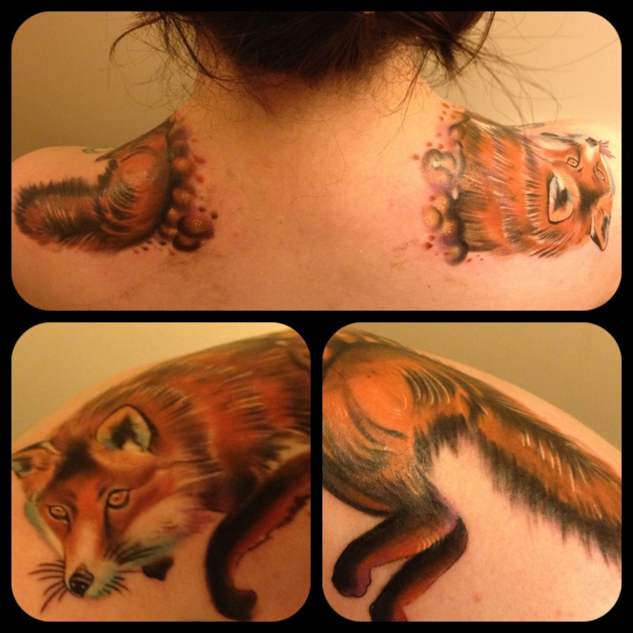 Animal Fox Tattoo For Girls