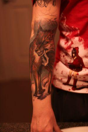Animal Fox Tattoo On Arm