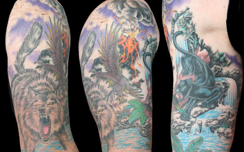 Animal Half Sleeve Tattoos