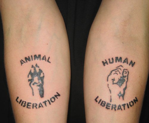 Animal Liberation Tattoos