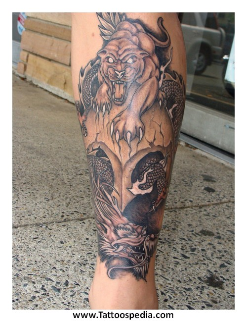 Animal On Helmet Tattoo