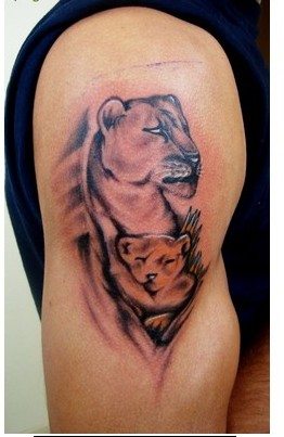 Animal Portrait Tattoos On Muscles