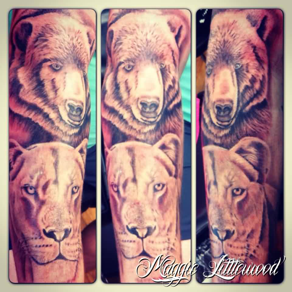 Animal Sleeve Tattoos Photo