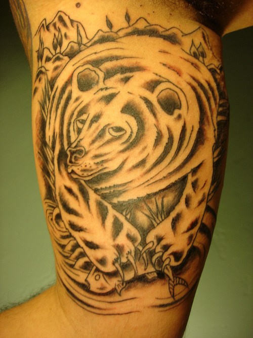 Animal Tattoo On Inner Muscles