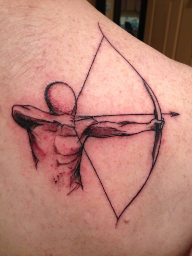 Archery Bow And Arrow Tattoo