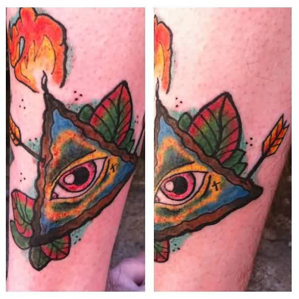 Arrow In Triangle Eye Tattoo