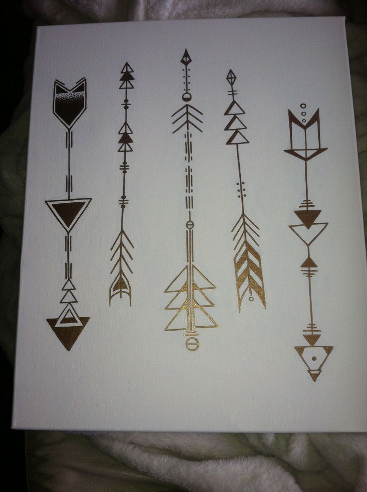 Arrow Tattoo Designs On White Page