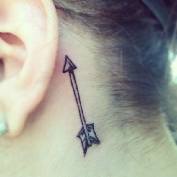 Arrow Tattoo On Back Of Ear