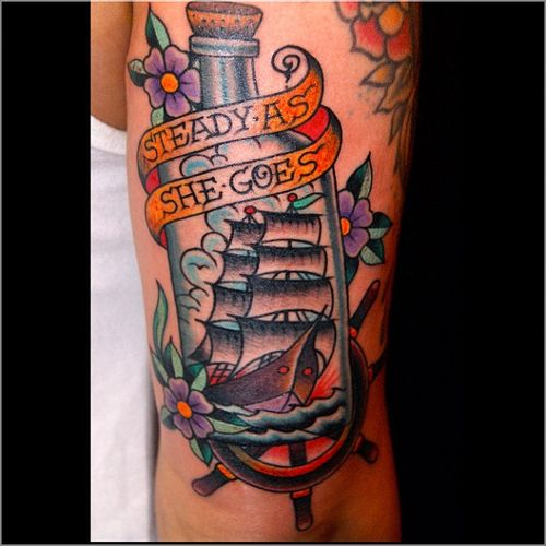 As She Goes - Bottle Tattoo