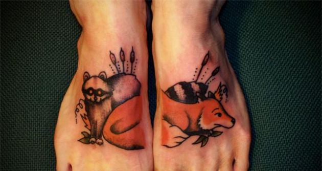 Awesome Animal Tattoos On Feet