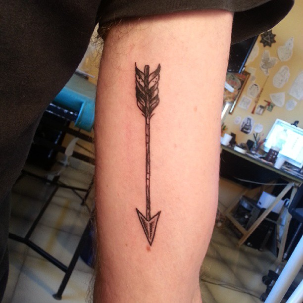 Awesome Arrow Tattoo On Arm