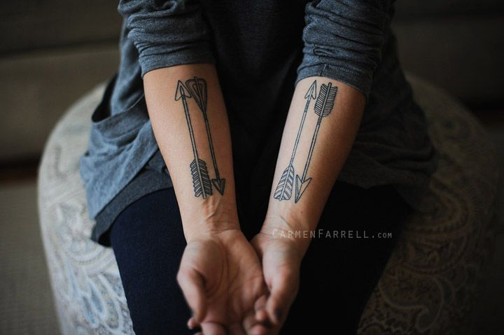 Awesome Arrow Tattoos On Forearms