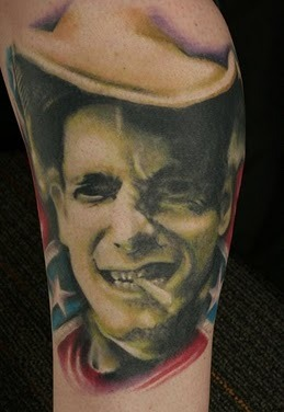 Awesome Cowboy Portrait Tattoo