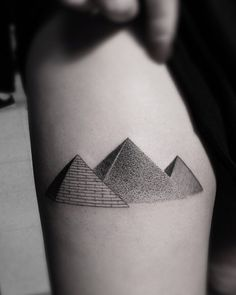 Awesome Pyramids Tattoo