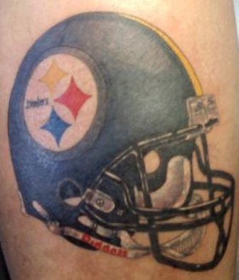 Awesome Steelers Helmet Tattoo