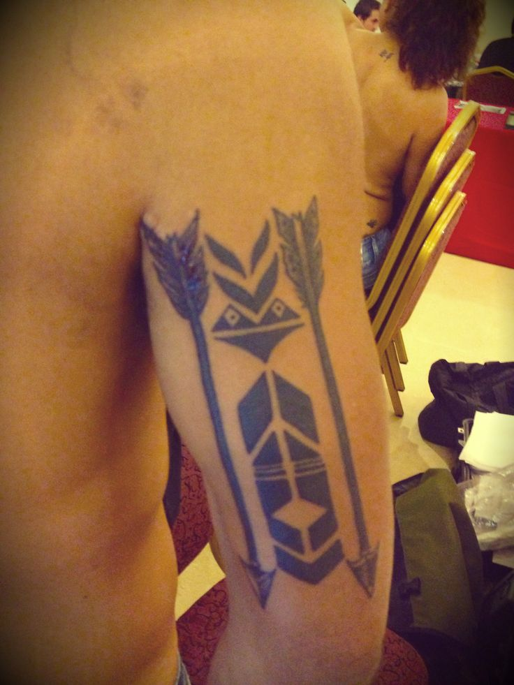 Back Arm Arrows Tattoo