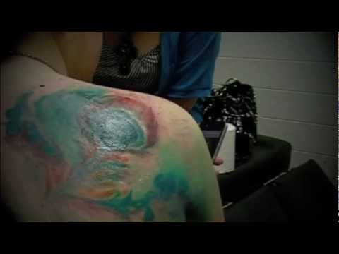 Back Shoulder Watercolor Tattoo
