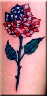 Beautiful American Rose Tattoo