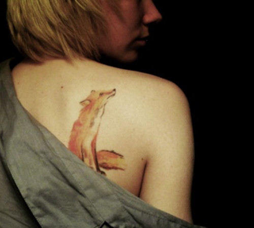 Beautiful Animal Tattoo On Back Of Shoulder
