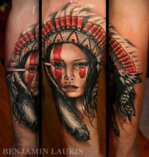 Beautiful Girl Portrait Tattoos