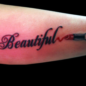 Beautiful Lipstick Tattoo