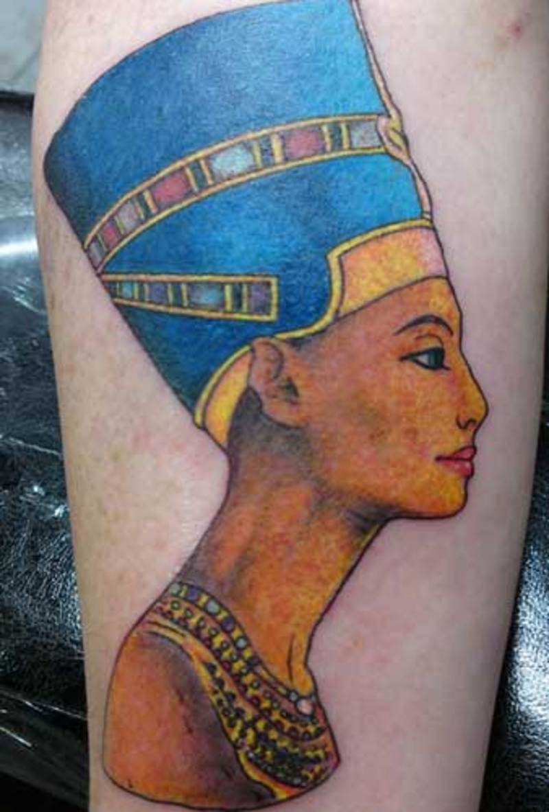 Beautiful Queen Nefertiti Tattoo