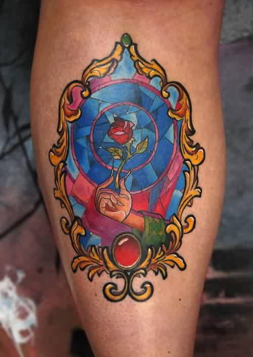 Beauty And The Beast Glass Tattoo