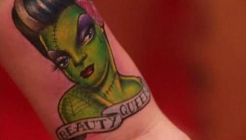 Beauty Queen Tattoo On Wrist