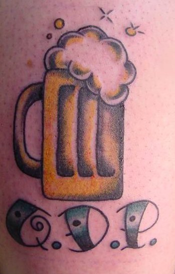 Beer Glass Tattoo For Guys