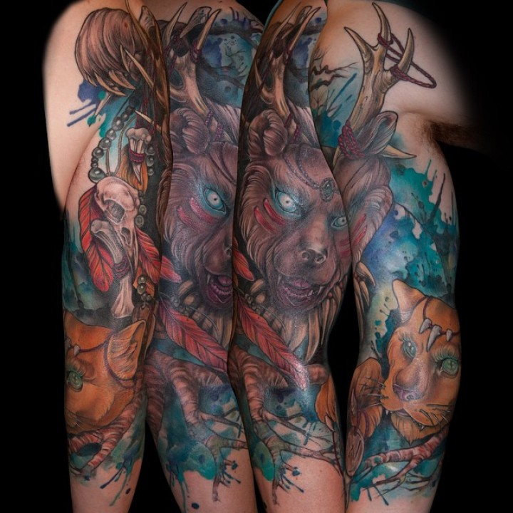 Best Animal Tattoos On Sleeve (2)