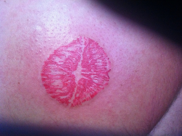 Best Lipstick Kiss Mark Tattoo