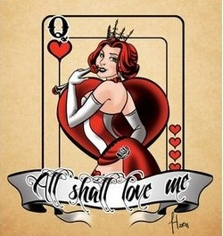 Best Queen Of Hearts Tattoo Flash