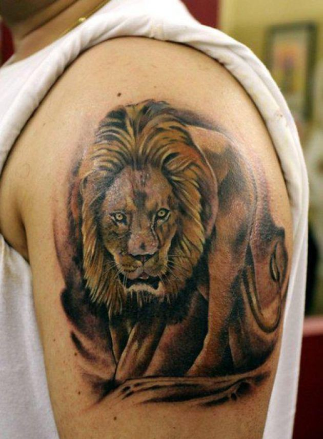 Best Walking Animal Tattoo On Biceps