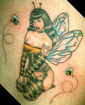 Betty Queen Bee Tattoo