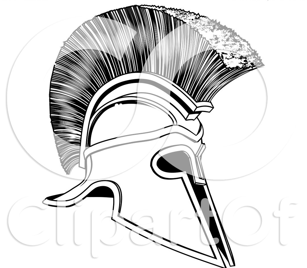 Black And White Corinthian Trojan Spartan Tattoo Design