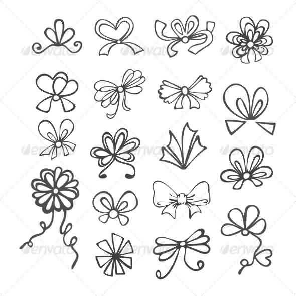 Black And White Ribbon Tattoo Designs