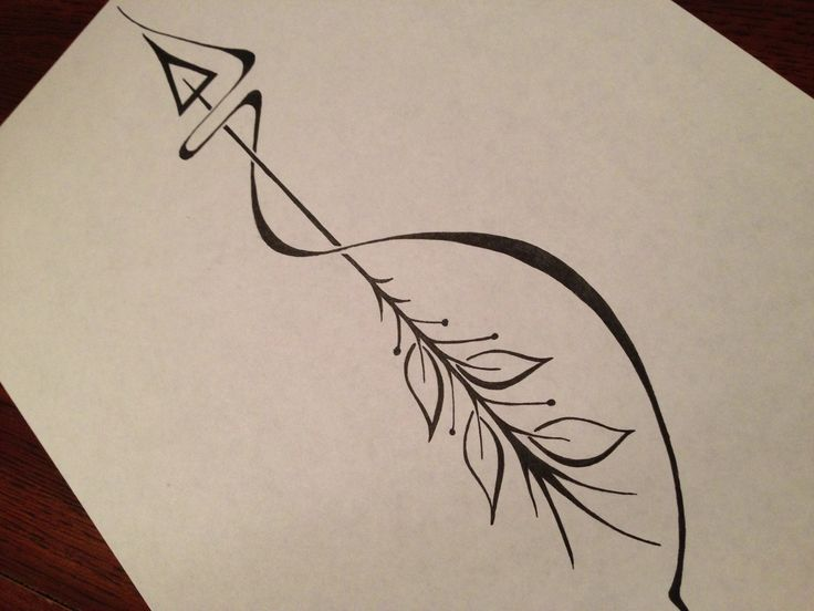 Black Arrow And Swirl Tattoo Design Page