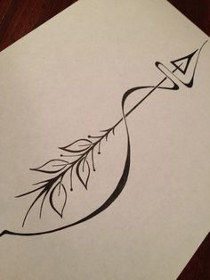 Black Arrow Tattoo Design Page
