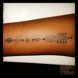Black Arrow Tattoo Photo