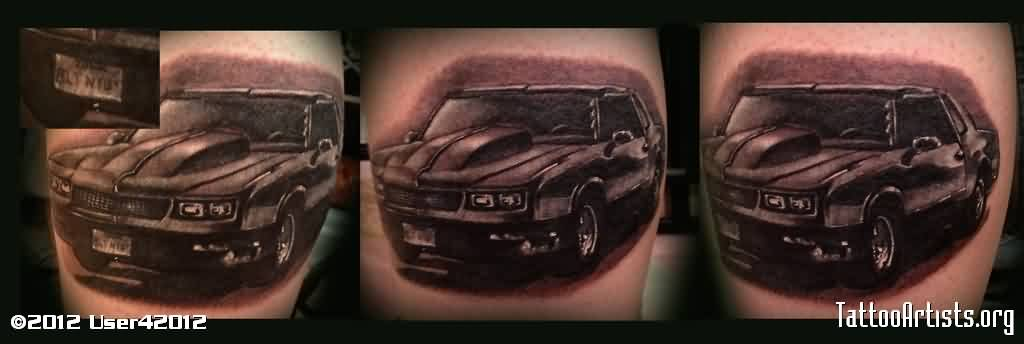 Black Car Portrait Tattoos