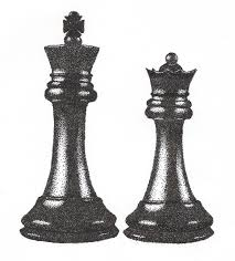 Black Chess King And Queen Tattoo Designs