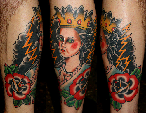 Black Clouds And Queen Tattoos