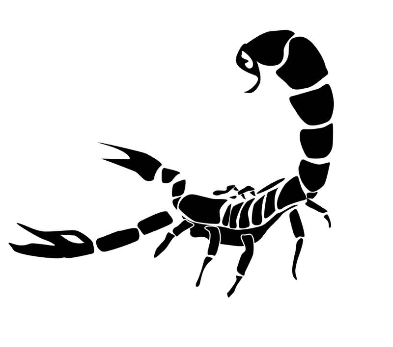 Black Ink Scorpion Tattoo Version (2)