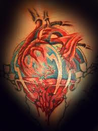 Bleeding Glass Heart Tattoo Image