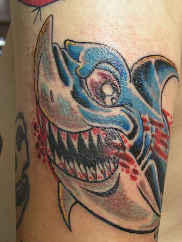 Bleeding Water Animal Tattoo
