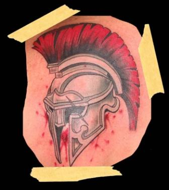 Blood And Helmet Tattoos Photo